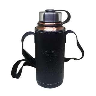 304不銹鋼保溫保冷瓶 贈皮革杯套 800ml 大容量 保溫壺 水壺 濾網真空壺  保溫杯 太空壺