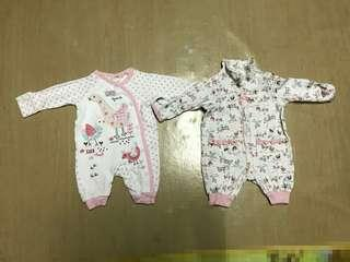 Farm themed baby rompers x2