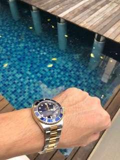 Rolex Submariner 16613 Blue Half Gold