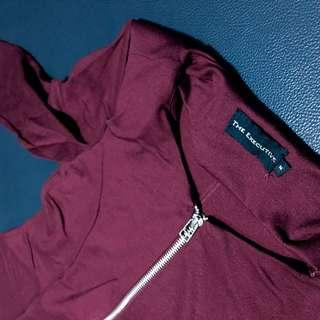 Preloved Blazer The Executive Maroon
