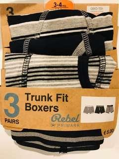 Primark trunk boxer for 3 to 4 years old