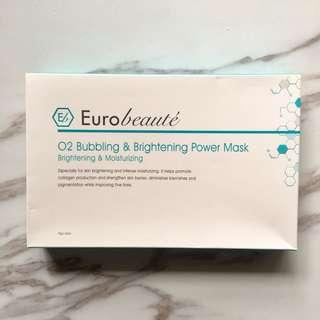 Eurobeauté O2 bubbling and brightening power mask 25gx1