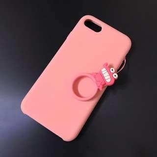 🚚 iPhone 6(s) & 7珊瑚粉色手機殼 蠟筆小新恐龍 #一百均價