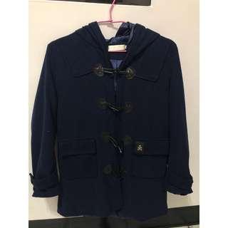 🚚 深藍色長版外套