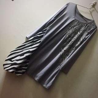 🖤國外帶回黑白幾何不對稱設計師洋裝🖤#半價衣服市集