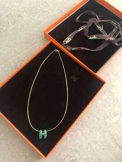 hermes h pop pendant necklace陳列品 冇氧化