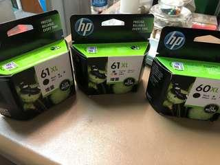 🚚 HP ink cartridges 61 XL and 60 XL