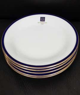 Givenchy Gold Trim Cake Plate x5