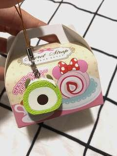 disney japan mike roll cake phone strap