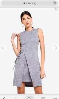 Zalora self tie formal dress