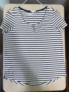 全新 Esprit 女裝衫 橫間上衣 短袖tee Esprit Lady's Top