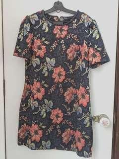 Miss Selfridge Navy Blue Floral Print Dress