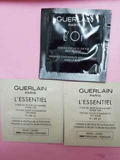 Guerlain L'Or Radiance Concentrate with Pure Gold Makeup Base  ,GUERLAIN  L'ESSENTIEL NATURAL GLOW FOUNDATION SPF20 –#00N