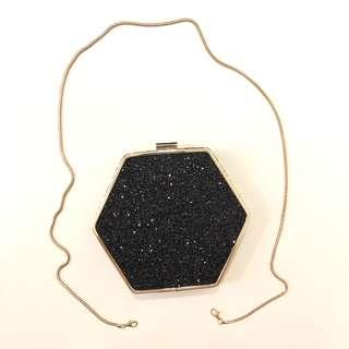 Hexagon frame crossbody bag/clutch from Warehouse