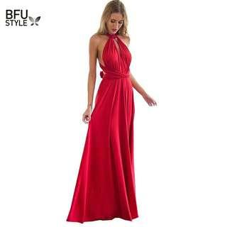 4e3046c6789 Sexy Women Multiway Wrap Convertible Boho Maxi Club Red Dress Bandage Long  Dress Party Bridesmaids Infinity