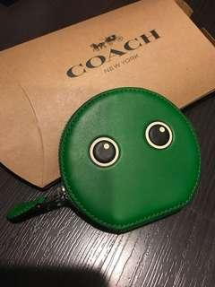 Coach coin pouch with emoticon eyes