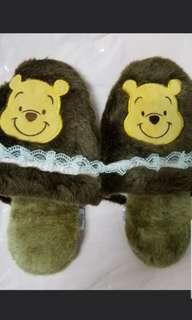 Winnie the pooh 日本維尼熊拖鞋(全新)