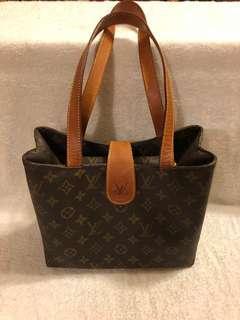 🚚 正品LV Louis Vuitton 老花 古董包/古著 手提包 路易威登 肩背包