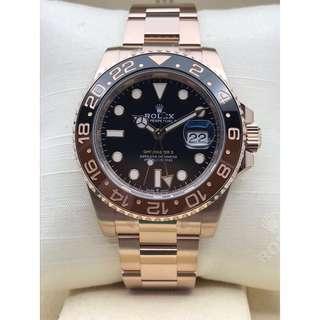 Rolex GMT Rose Gold 126715CHNR NEW