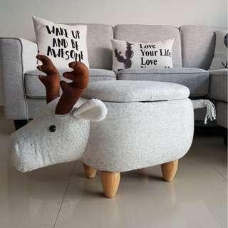 Deer Animal Stool with Storage