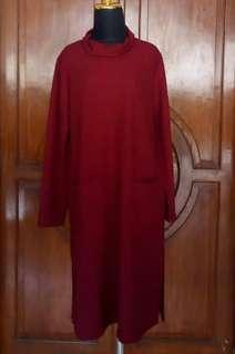 New! Daily Basic Tunik in Maroon