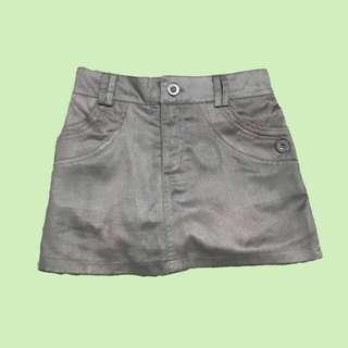 古著灰色迷你褲裙 skirt/pants
