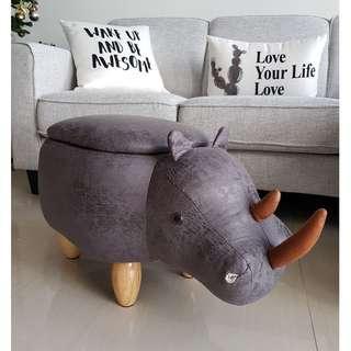 Rhino Animal Stool with Storage