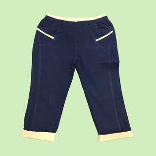 深牛仔彈性輕便褲 Denim Easy Pants