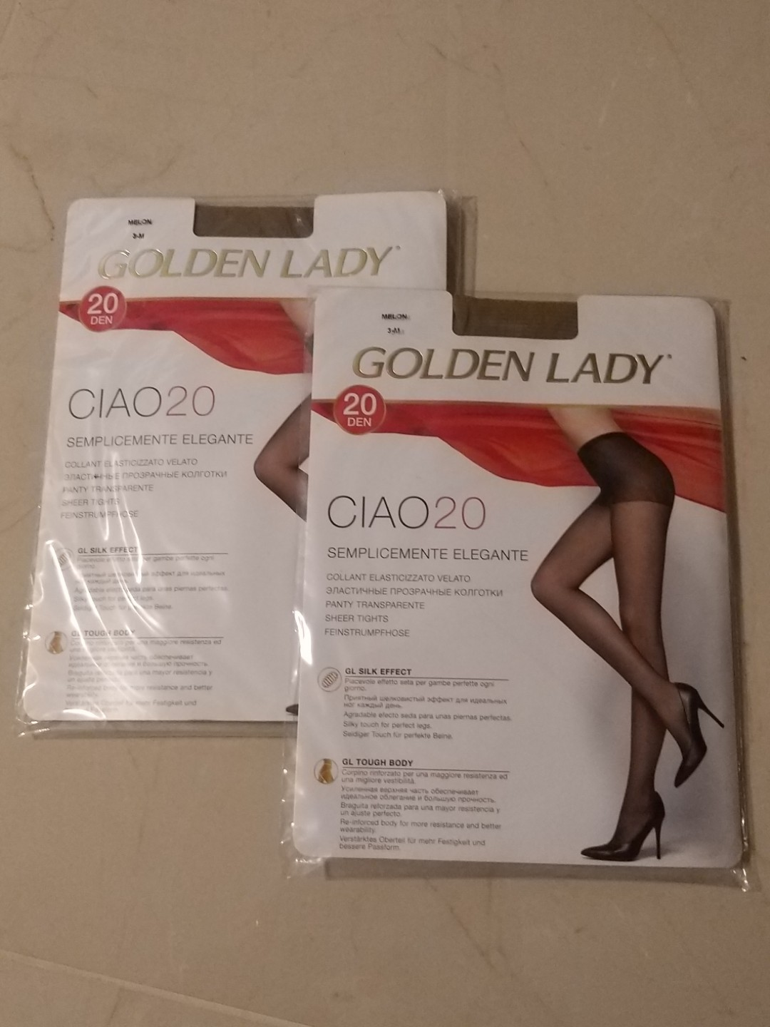 edd36e76c07 2 pairs of premium stockings (pantyhose) made in Italy