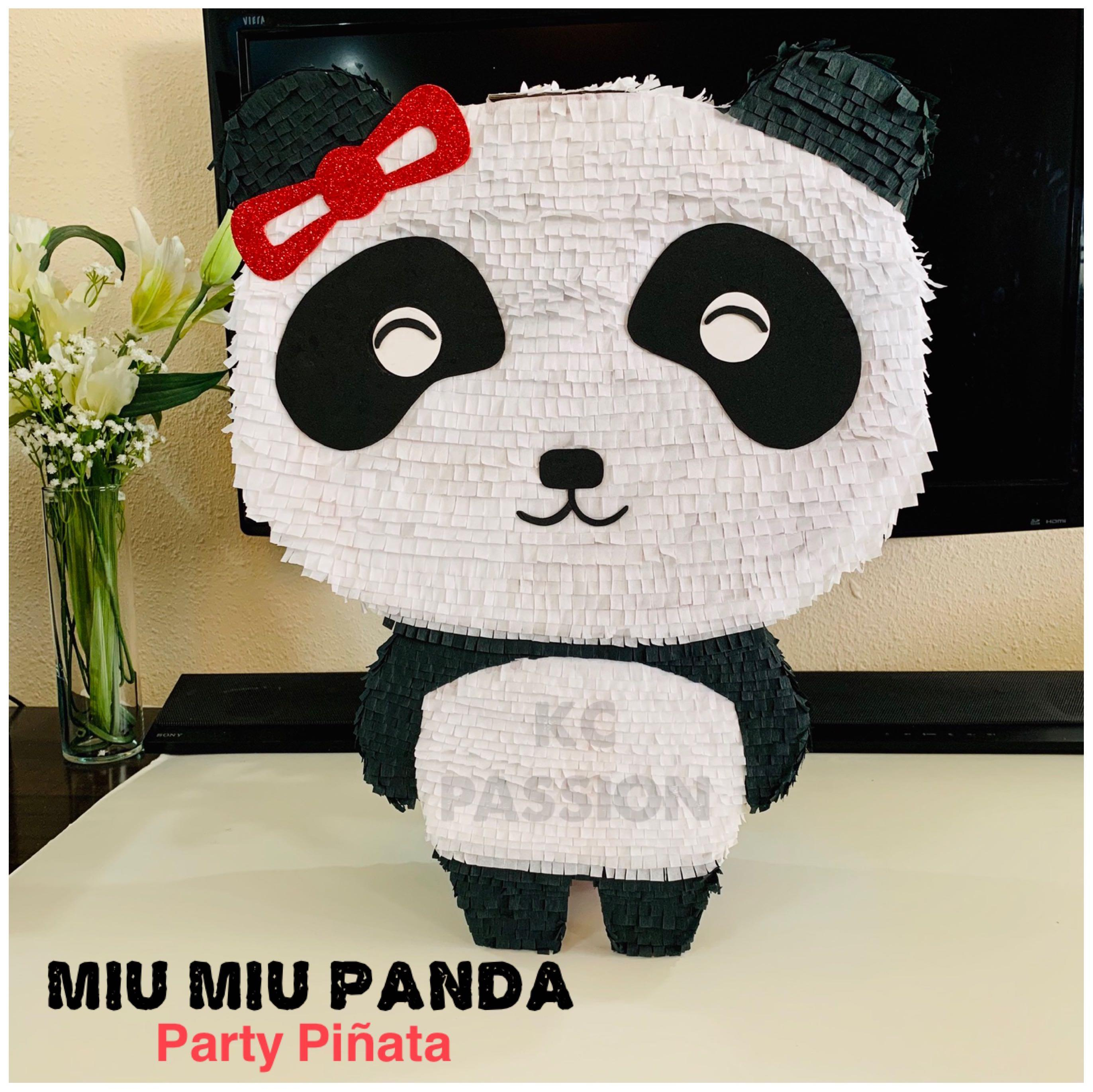 🐼 PANDA [Kiki and Miu Miu] PARTY PIÑATA • PINATA Customized