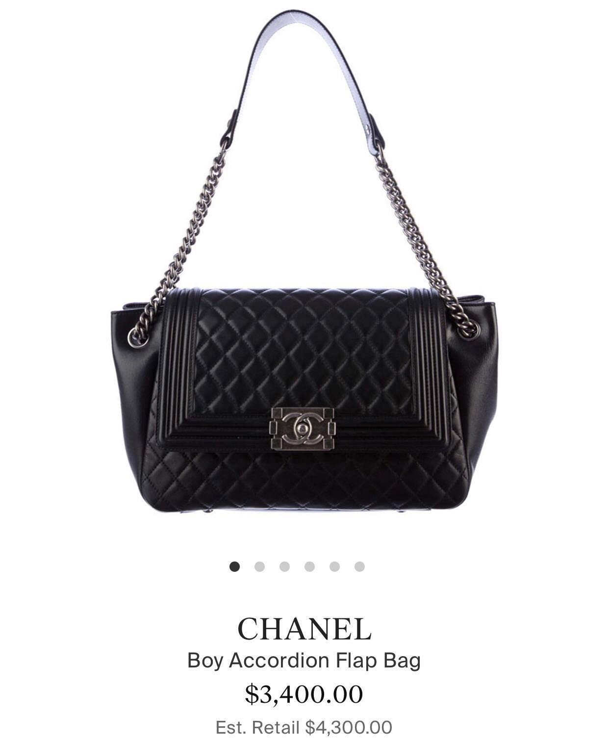 8190b276eac6 Authentic Chanel boy Accordion bag, Women's Fashion, Bags & Wallets ...