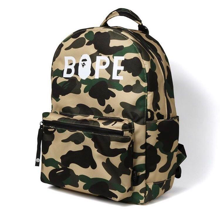High Quality  A Bathing Ape Camouflage Army Backpack BAPE Laptop Shoulder Bag