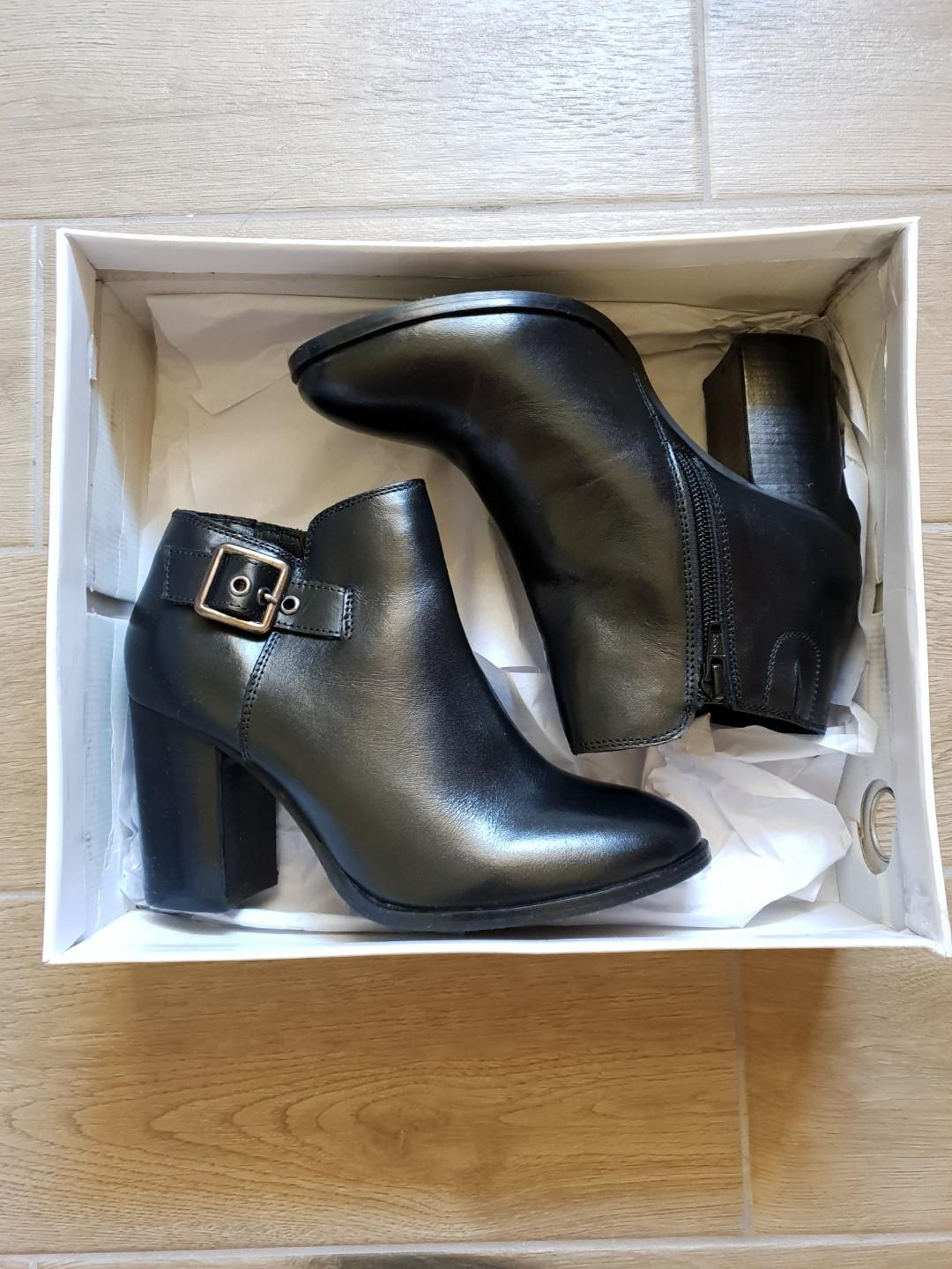 "Black Ankle Boots women's (new) ""Kesha"""