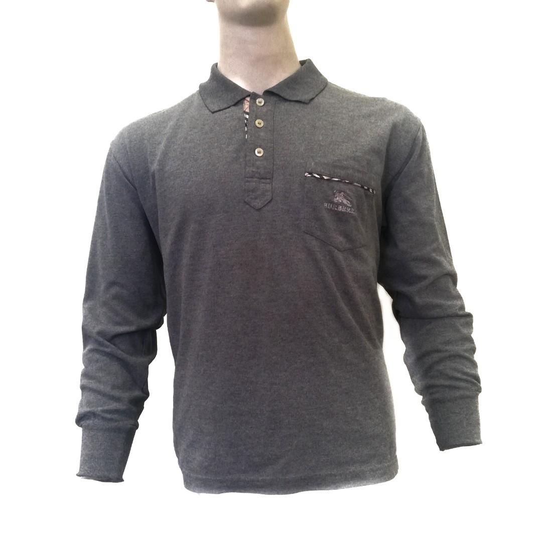 2d0d4fe96 Burberry nova check pocket long sleeve polo tew, Men's Fashion ...