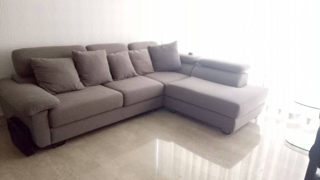 Cellini L Shaped Sofa With Retractable Headrest Furniture Sofas On