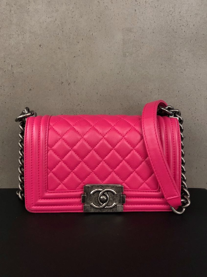 5bcc055d7dfc Chanel Boy Chanel Small, Luxury, Bags & Wallets, Handbags on Carousell