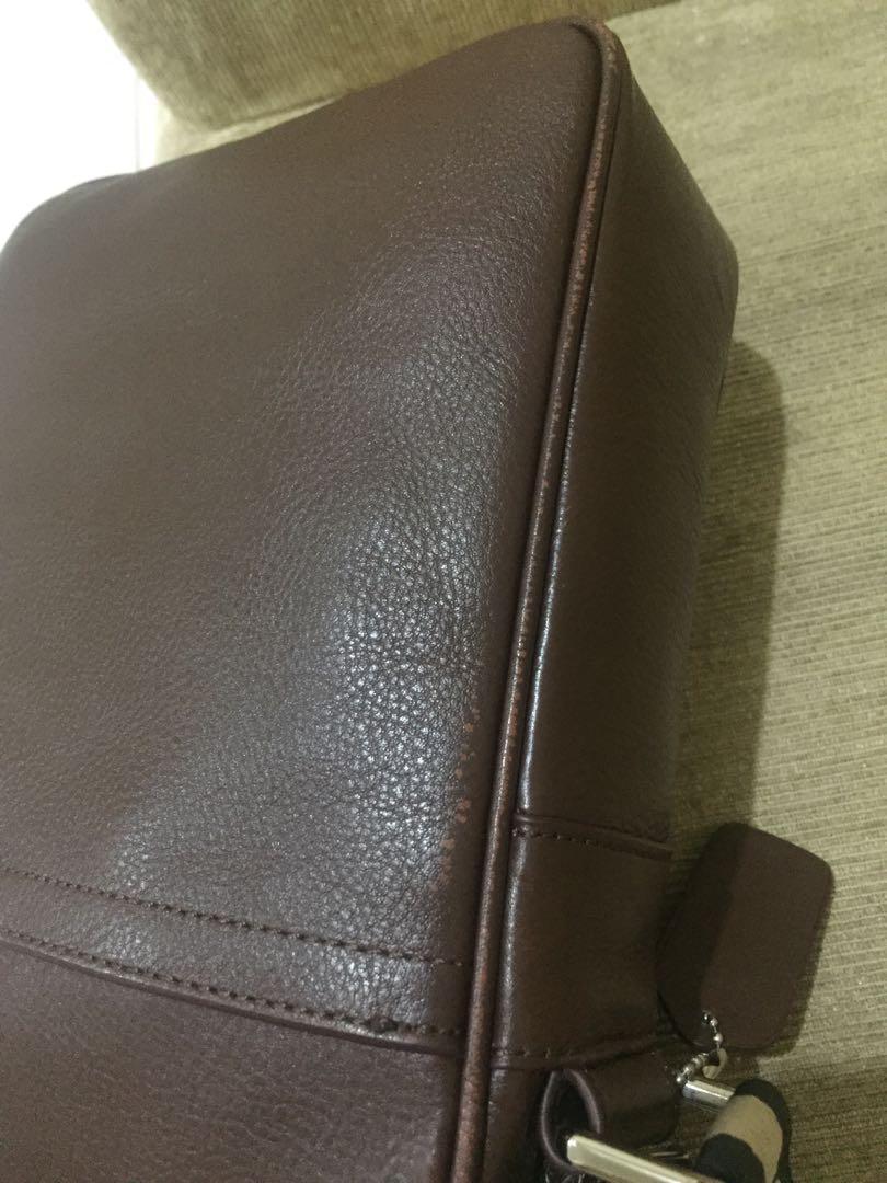 Coach Men Leather Sling Bag Tas Pria Kulit Genuine Leather Murah Sale Diskon Original Authentic Preloved Bekas Second Selempang Sling Bag