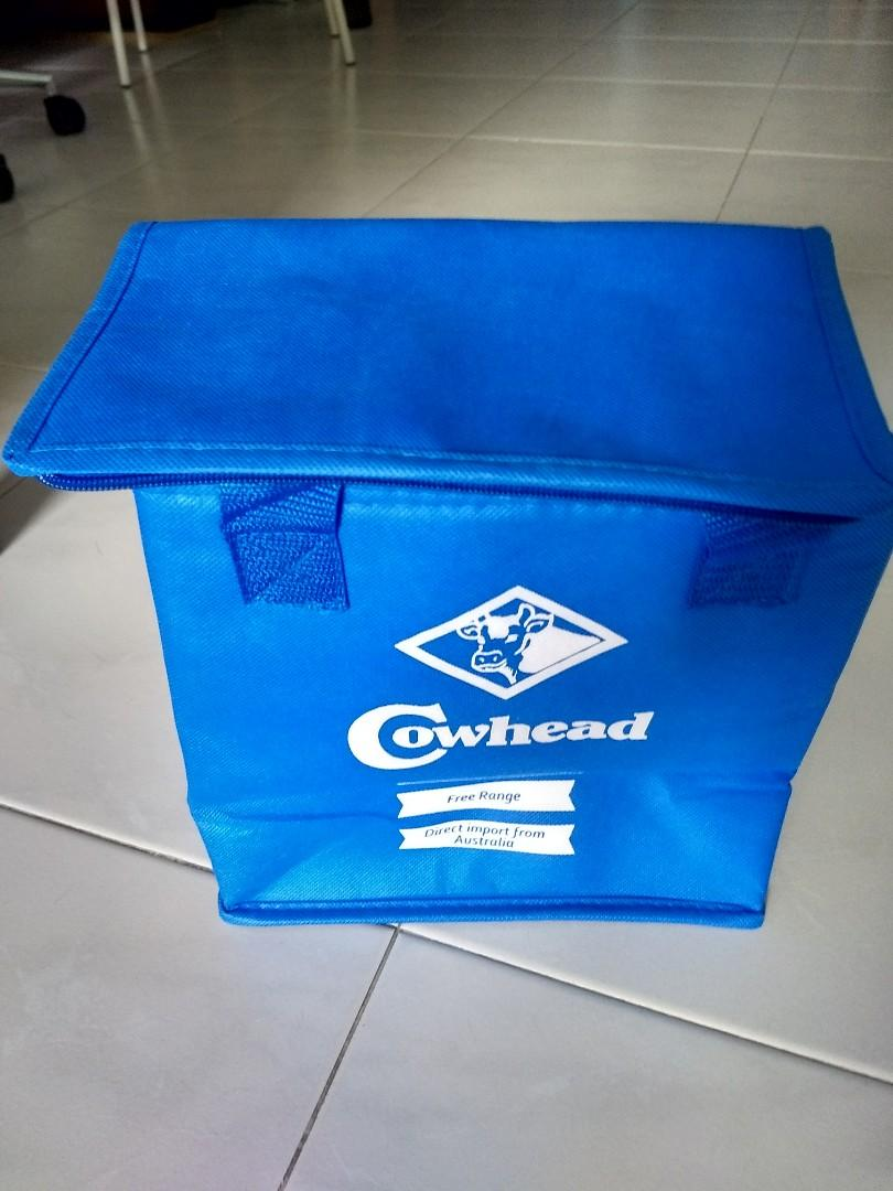 Cowhead Blue Color Cooler Bag With Zip