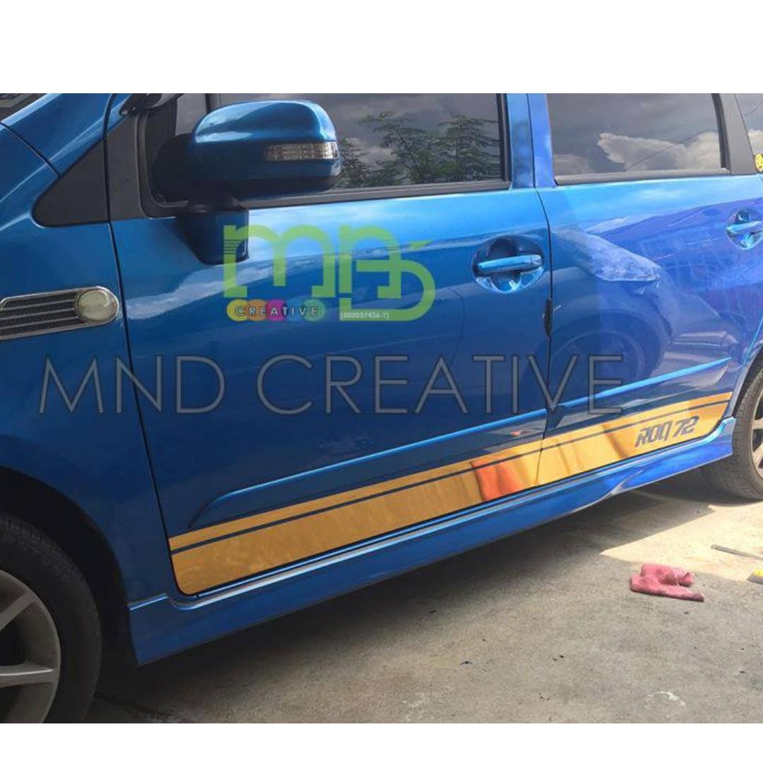 Custom car body sticker
