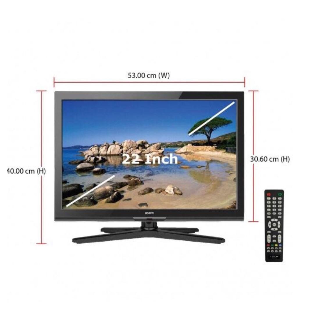 Denn DLT-22WHVT (22 Inch) HD LED TV (HDMI/VGA/AV/USB)
