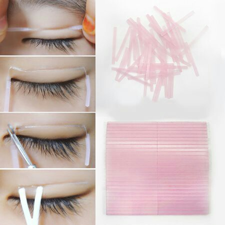 Fibre double eyelid tape, Health & Beauty, Makeup on Carousell