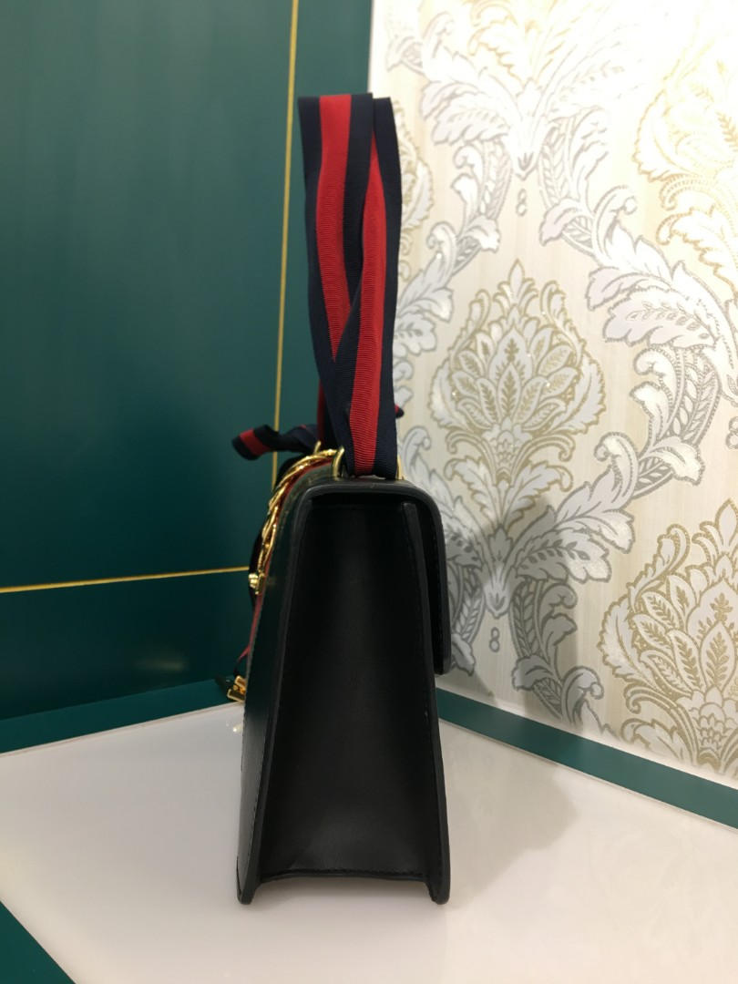aecf38fa8ac3 ❌ RESERVED ❌Gucci Sylvie Flap Bag black Calfskin, Luxury, Bags & Wallets,  Handbags on Carousell