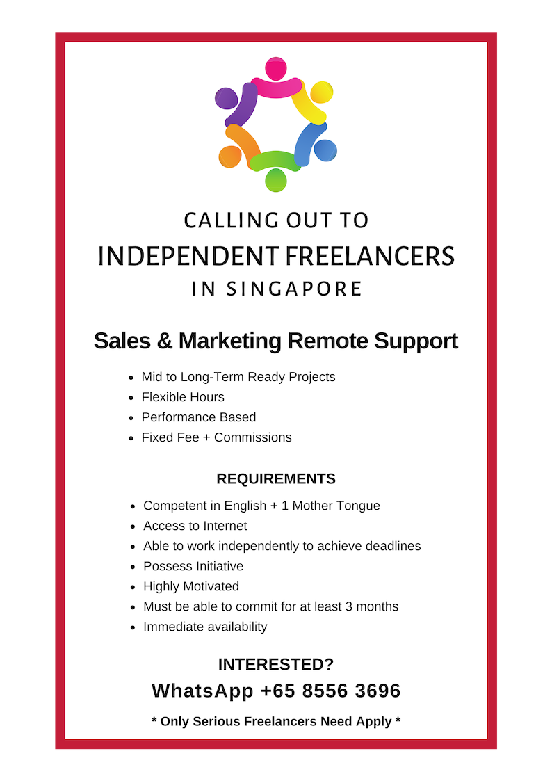 Home-Based Sales & Marketing Support (Freelance)
