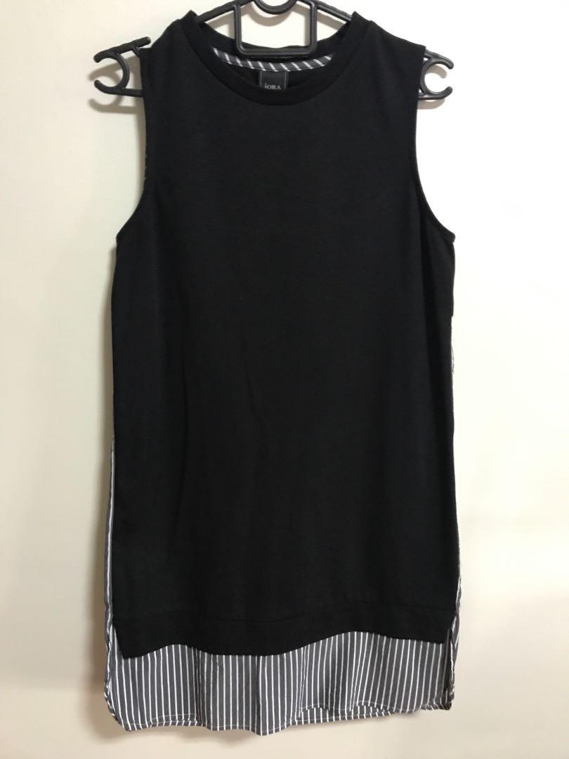 IORA black stripes dress