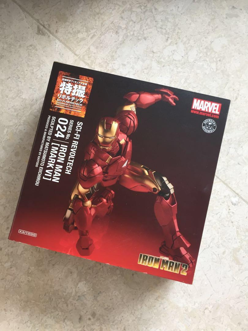 "KAIYODO MARVEL IRON MAN  SCI-FI REVOLTECH  6/"" ACTION FIGURE"