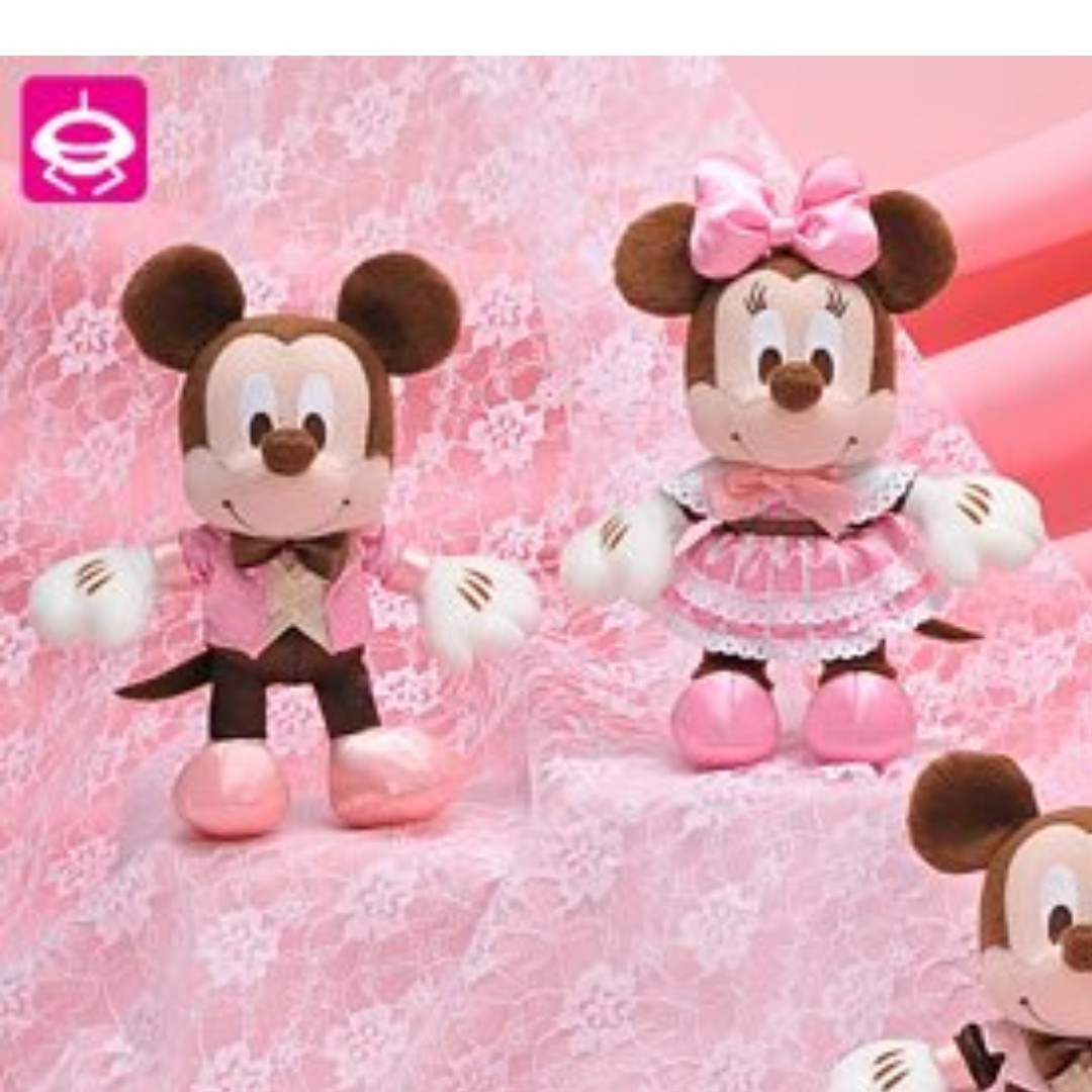 Mickey And Minnie Wedding.Japan Disney Mickey Minnie Wedding Valentine Love Chocolate Color Couple Pair Soft Plush Toy Gift Box