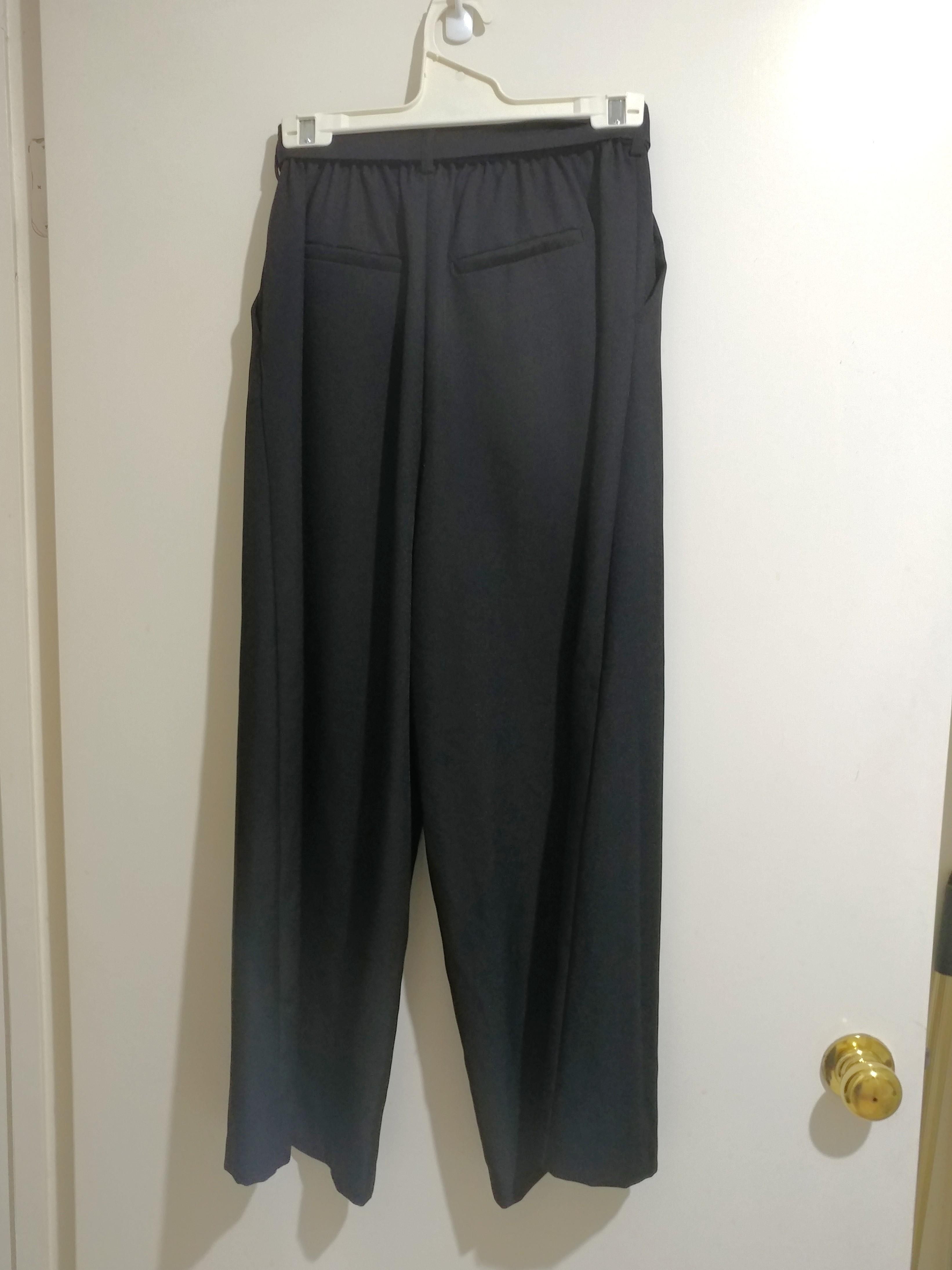 Japanse Black Wide Leg Tie Waist Culottes Pants AU8-10