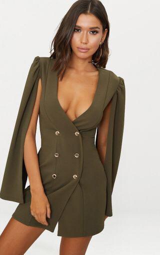 Khaki blazer dress Pretty Little Thing