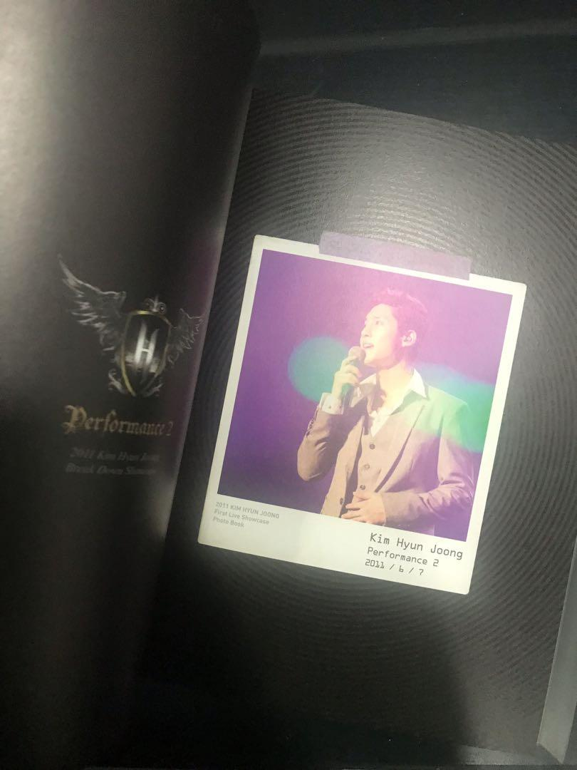 Kim Hyun Joong Autographed First Live Showcase Photo Book