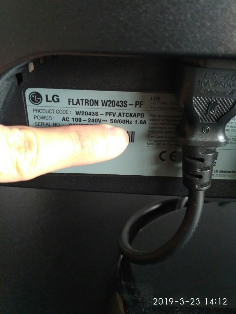 driver monitor lg flatron w2043s windows 7
